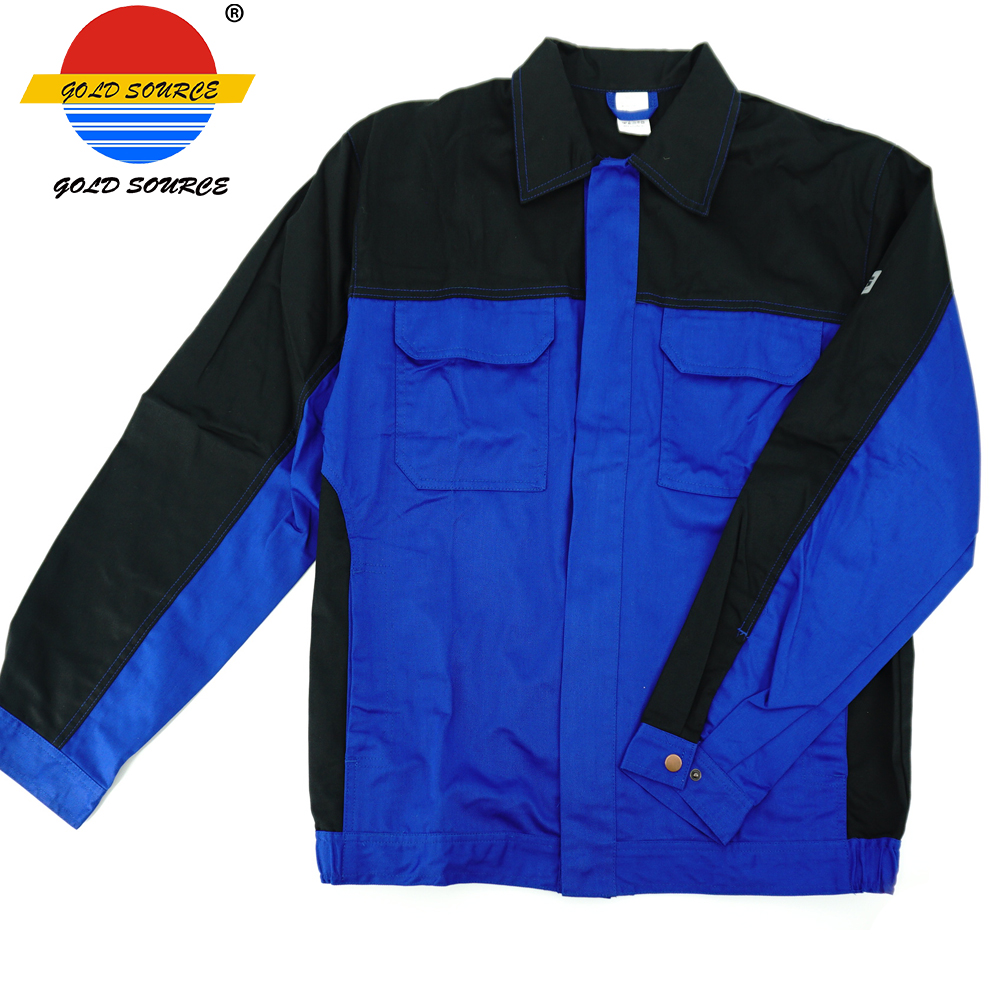 Workplace Safety Supplies Factoray On Sales Cheap Long Sleeves Twill Industry Workwear Construction Jackets Durable Service Safety Clothing