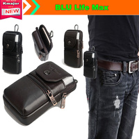 Genuine Leather Carry Belt Clip Pouch Waist Purse Case Cover for BLU Life Max 5.5inch SmartPhone Free Drop Shipping