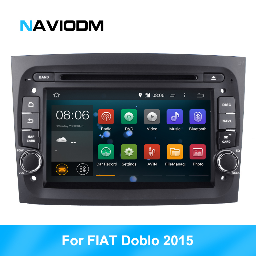 Car Multimedia Player  Car dvd player gps navigator for FIAT DOBLO 2015 2016 car radio bluetooth car audio GPS