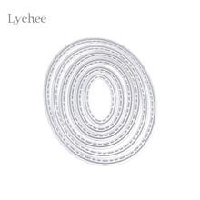 Lychee 1 Set Ellipse Metal Cutting Dies Stencils DIY Scrapbooking Decorative Embossing Folder Paper Cards Die Template