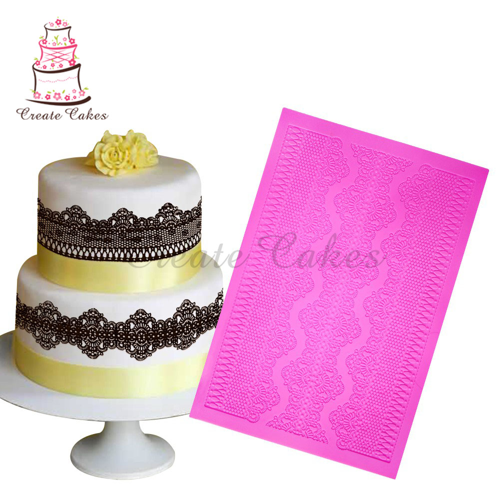 Wedding Cake Decoration Molds : Aliexpress.com : Buy Chantilly Cake Lace Mold for Wedding ...