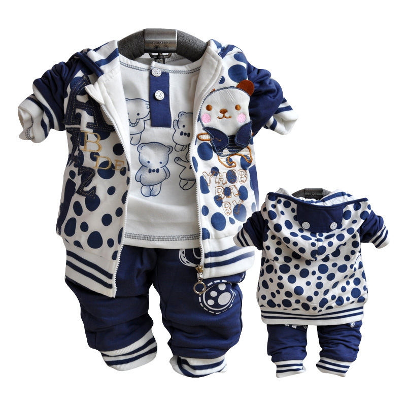 ФОТО Anlencool 2017 Free shipping Autumn  new Korean baby's clothing suit newborn brand baby clothing set baby clothes sets