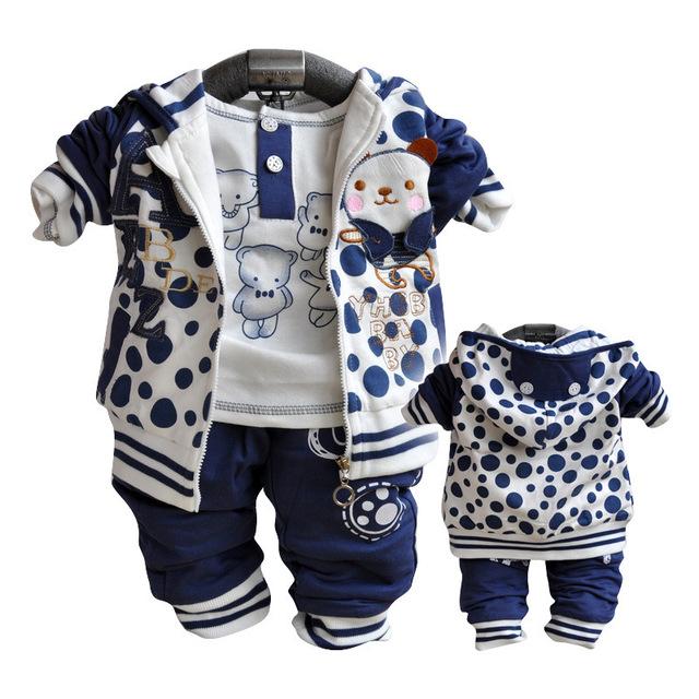 Anlencool 2017 Frete grátis Outono nova Coreano roupas terno do bebê conjuntos de roupas de marca bebê recém-nascido definir a roupa do bebê
