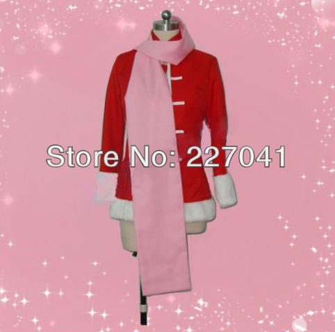 Gintama Kagura winter  Cosplay Costume Halloween Cloth