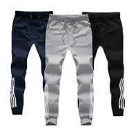 M 5XL Large Size Baggy Cotton Sweatpants Male Joggers Striped Pants 2017 New Fashion Tracksuit Bottoms