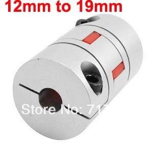 12mmx19mm Shaft Robot Motor Wheel Flexible Plum Coupling Coupler Joint
