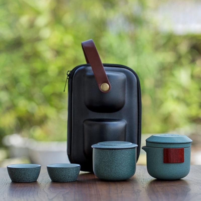TANGPIN Ceramic Teapot Tea Cup Tea Canisters Portable Travel Tea Sets Drinkware