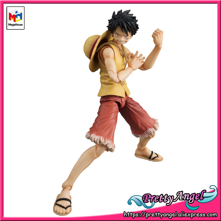 PrettyAngel - Genuine MegaHouse Variable Action Heroes ONE PIECE Monkey D. Luffy PAST BLUE (Ver.Yellow) Action Figure prettyangel genuine megahouse variable action heroes one piece dracule mihawk action figure
