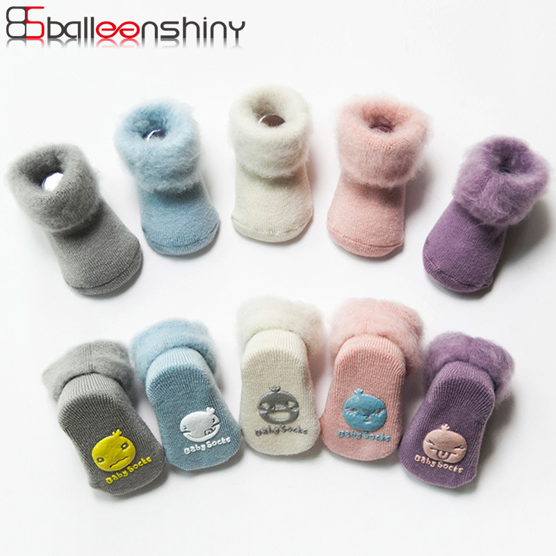 Balleenshiny Baby Thicken Wool Socks Toddler Infant Anti