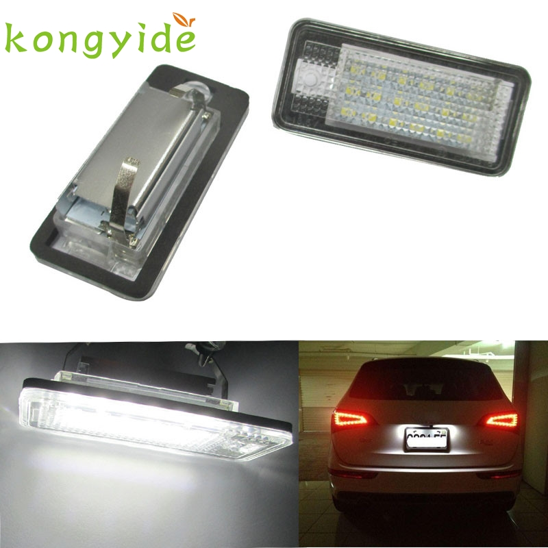 White Error Free LED License Plate Light Lamp For Audi A3 A4 A6 S6 A8 Q7 ja20
