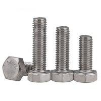 1 pcs M10 Hexágono Parafuso 304 parafusos sextavados de aço inoxidável dente Completo DIN933 hexágonos parafuso 80mm-200mm comprimento