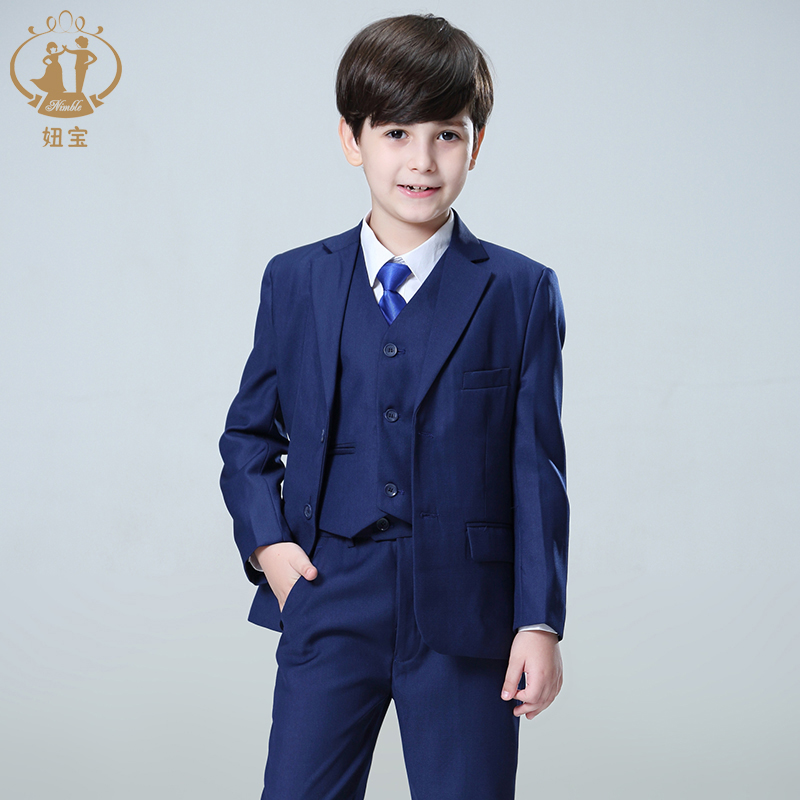 купить Three-piece Suit Small Handsome Boy Clothing Baby Boy Suit for Boy Suit Kid Boy Wedding Kids
