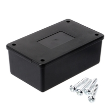 1Set Plastic Electronic Project Box Waterproof ABS Plastic Electronic Enclosure Project Box Case Black 105x64x40mm