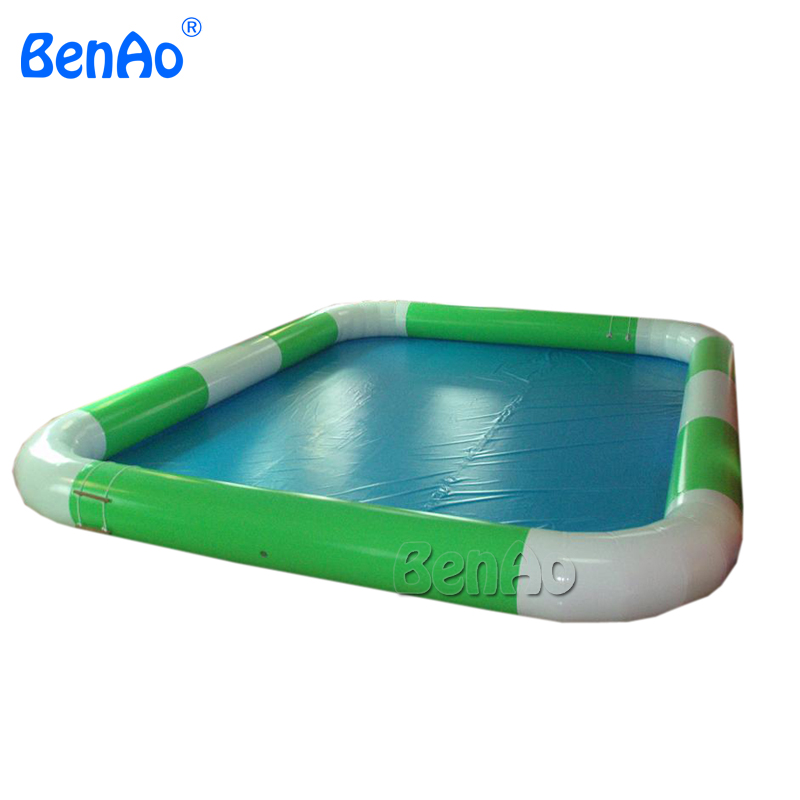 W010  Lowest price 6m*8m inflatable water pool,  PVC swimming pool for water ball 0.9mm PVC  Repair kits + air blower for free vilead new american stripe water hammock pvc sleep tents pool row pattern lounge inflatable air floating bed for beach swimming