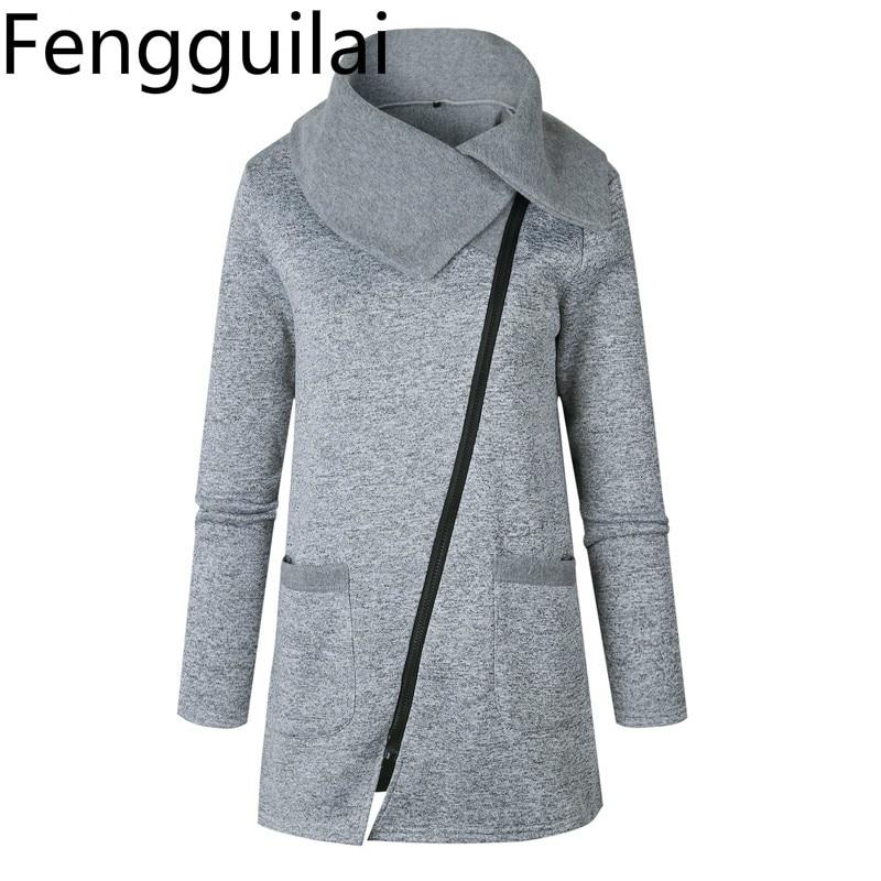 Winter Zipper   Jacket   Women Plus Size 5xl Outerwear Light Grey Coats Female Slim Long   Basic   Tops Jaqueta Femininos