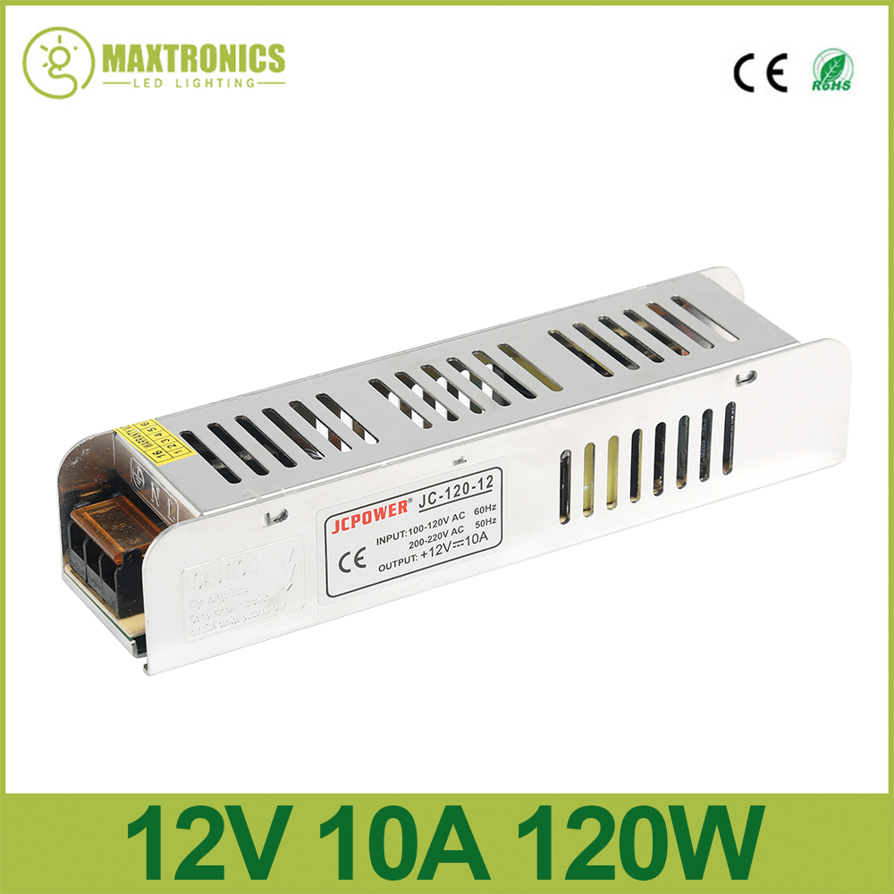 New 12V 10A 120W Slim Power Supply power source AC to DC Adapter Switch Driver for auto LED Strip Light module 110V/220V new ac to dc 12v 25a 300w switch power supply driver adapter for led strip