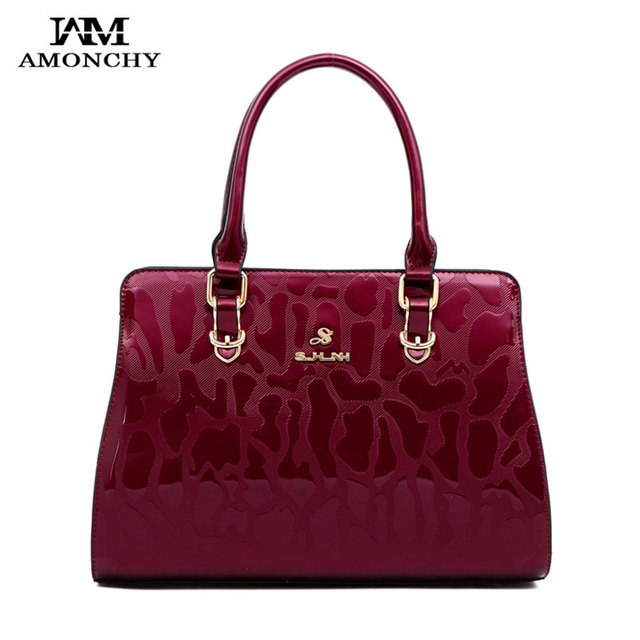 Noble Women Patent Leather Totes Bags Elegant Women's Shoulder Bags Brand Lady Messenger Bag High Quailty Fashion Handbags HT49