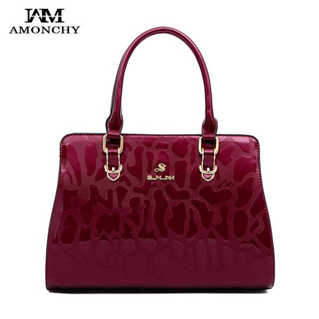 Noble Women Patent Leather Totes Bags Elegant Women's Shoulder Bags Brand Lady Messenger Bag High Quailty Fashion Handbags HT49