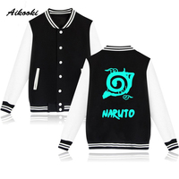 Aikooki Naruto Baseball Jacket Capless Sweatshirt Men Hoodie Classic Japanese Anime Winter Hoodies Men Fashion Cartoon