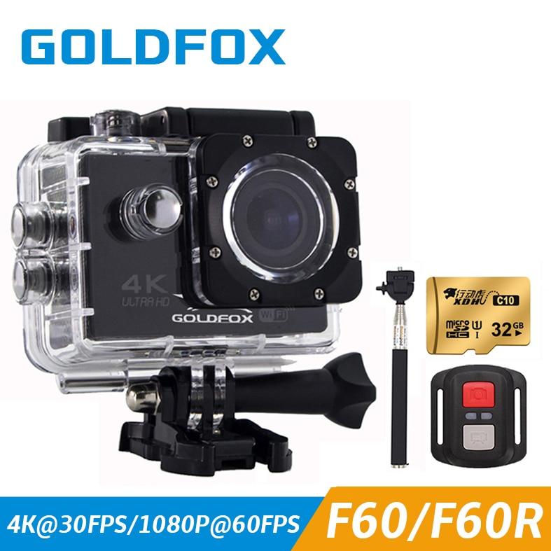 Caméra d'action de Style GOLDFOX H9 16MP Wifi HD 4 K caméra étanche pro caméra Sport DV caméra vidéo casque de vélo caméscope de voiture