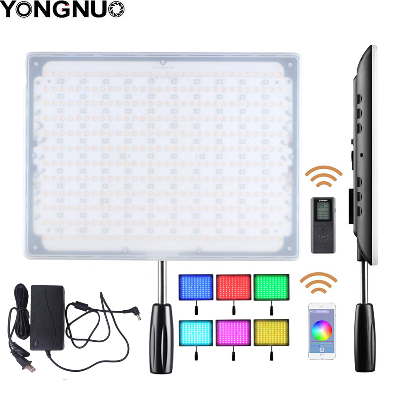 YONGNUO YN600 RGB Ultra Thin Video LED Video Photo Light with Adjustable Color Temperature 3200K 5500K