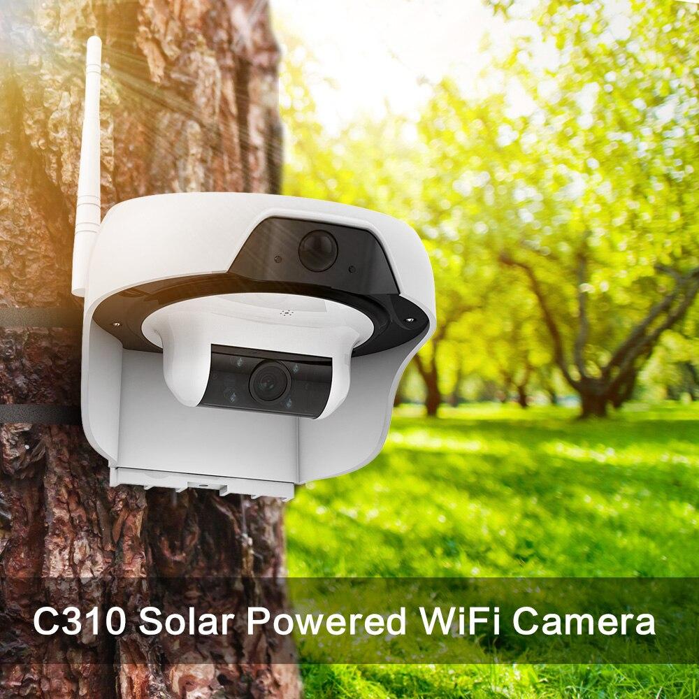 Caméra IP de sécurité à domicile sans fil activée par mouvement Freecam à énergie solaire wifi Cam HD 720 P avec caméra extérieure étanche PIR C310