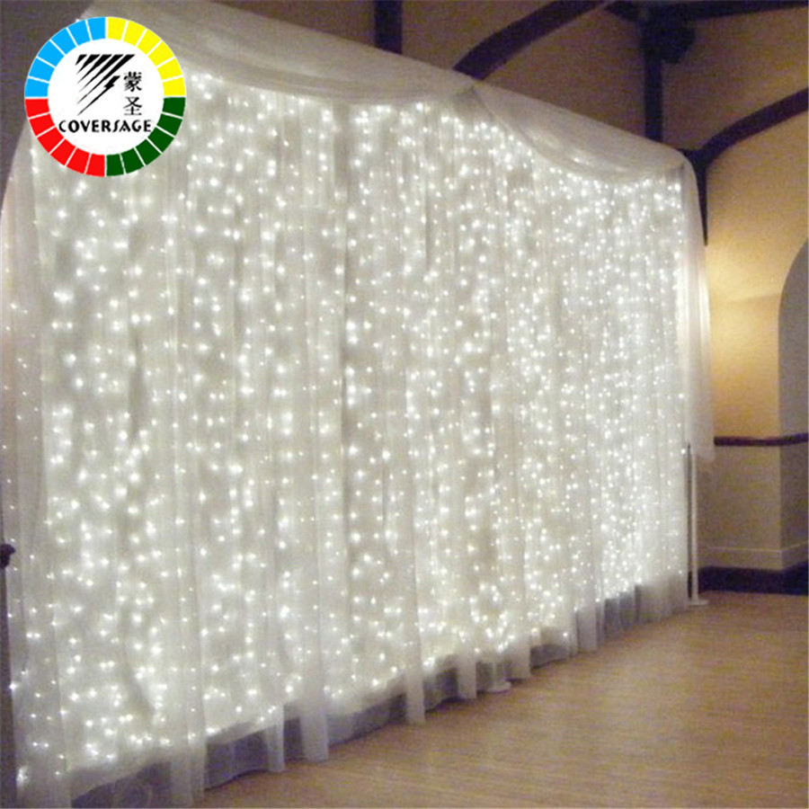 Coversage 3X1M Jul Garlands LED String Julen Net Lights Fairy Xmas - Ferie belysning - Foto 2