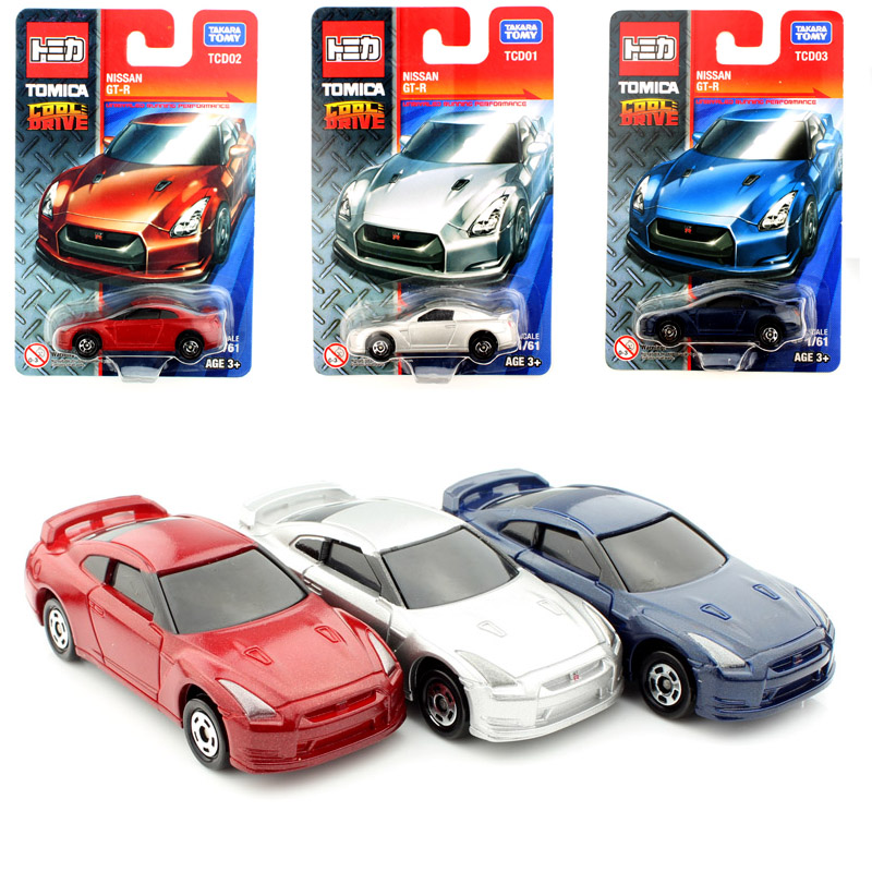 3pcsset tomy mini scale tomica baby diecast nissan gtr auto plastic models race cars toys loose play cheap collection for kids