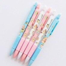 Mechanical-Pencil School-Supplies Kawaii Stationery Cartoon Cute Rilakkuma Eraser Writing-Pen