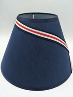 E27 lamp shade for table lamp for bedroom lamp horn shaped blue fabric lamp shade