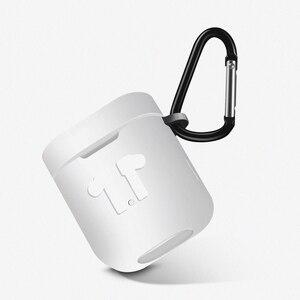 Image 4 - Siliconen Case voor Xiaomi Airdots Pro Shockproof Oortelefoon Beschermende Cover Pouch voor Xiaomi Air TWS Headset Accessoires met Haak