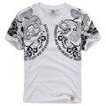 Marca maré japonês tatuagem Personalizado impressão de manga curta t camisa do Verão nova chegada de algodão de alta qualidade t shirt homens M-XXXL