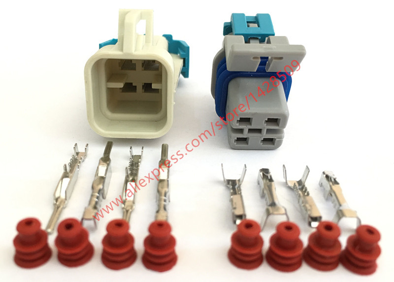 compare prices on delphi electrical connectors online shopping Delphi Wire Connectors 5 sets 4 pin 15326423 12176896 delphi gm ls2 o2 waterproof female male automotive electrical connector delphi wire connectors