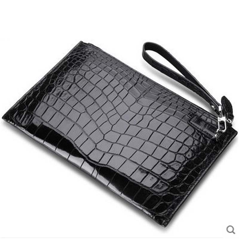 2018 Cestbeau thin file envelope men clutch bag crocodile skin men bag black large capacity belly area selection men bag