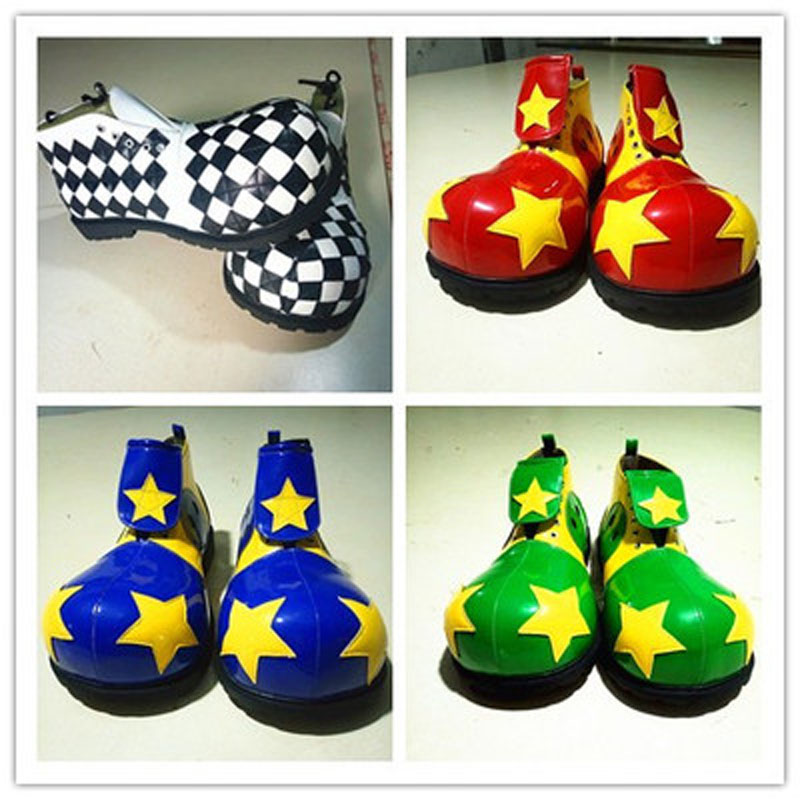 Star clown boots adults funny clown shoes party supplies halloween cosplay prop