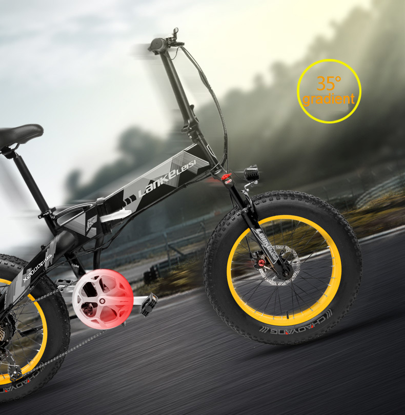 HTB1vGjCbojrK1RkHFNRq6ySvpXap - 20 Inch Electrical Snow Bike Electrical Bicycle Two Wheel Brushless Motor 500W 48V Mountain Bike Folding Moveable Electrical Scooter