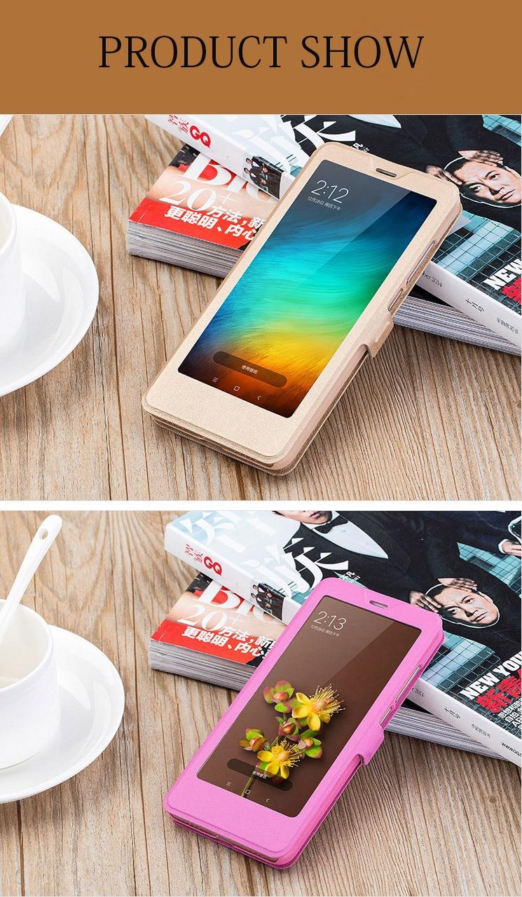 Smart window hard flip leather case for xiaomi redmi 5 plus 5a note 5 5a pro 6 6a 6 pro 11