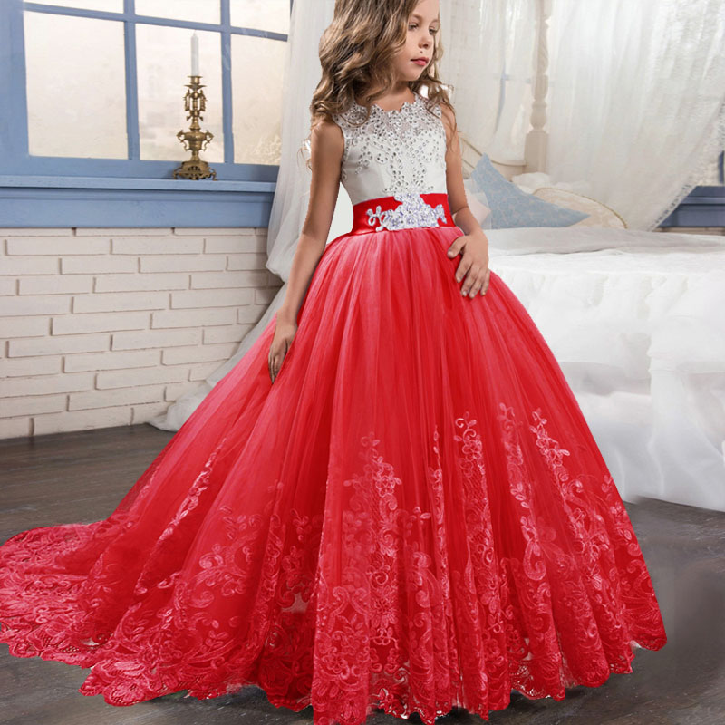High quality   flower     girl     dress   children evening wedding   girls     dress   first communion princess costume ladies vestido comunion