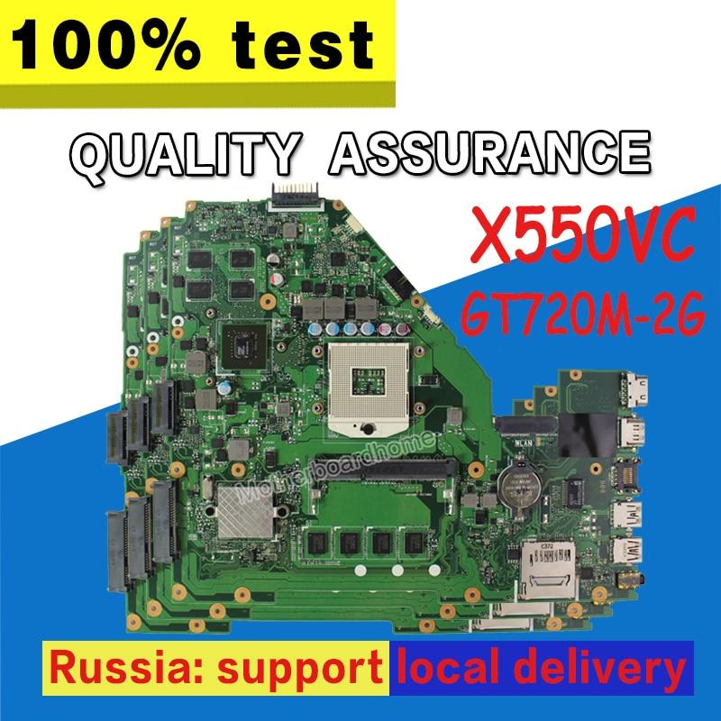 X550VC Motherboard 4g RAM GT720M-2G For ASUS X550VC R510V X550V X550 Laptop motherboard X550VC Mainboard X550VC Motherboard kefu x550vc for asus x550vc x550cc x550v r510v laptop motherboard nvidia geforce gt720m 4g ram 2g video card pga989 100% tested
