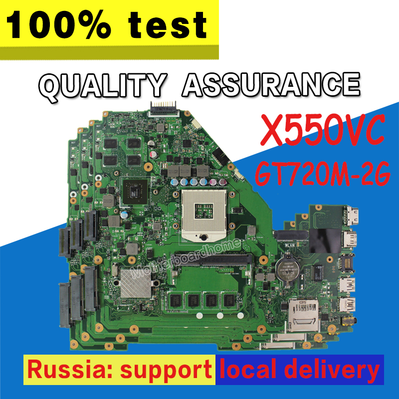 X550VC Motherboard 4g RAM GT720M-2G For ASUS X550VC R510V X550V X550 Laptop motherboard X550VC Mainboard X550VC Motherboard for asus x75vd x75v x75vc x75vb x75vd x75vd1 r704v motherboard x75vd rev3 1 mainboard i3 2350 gt610 1g ram 4g memory 100