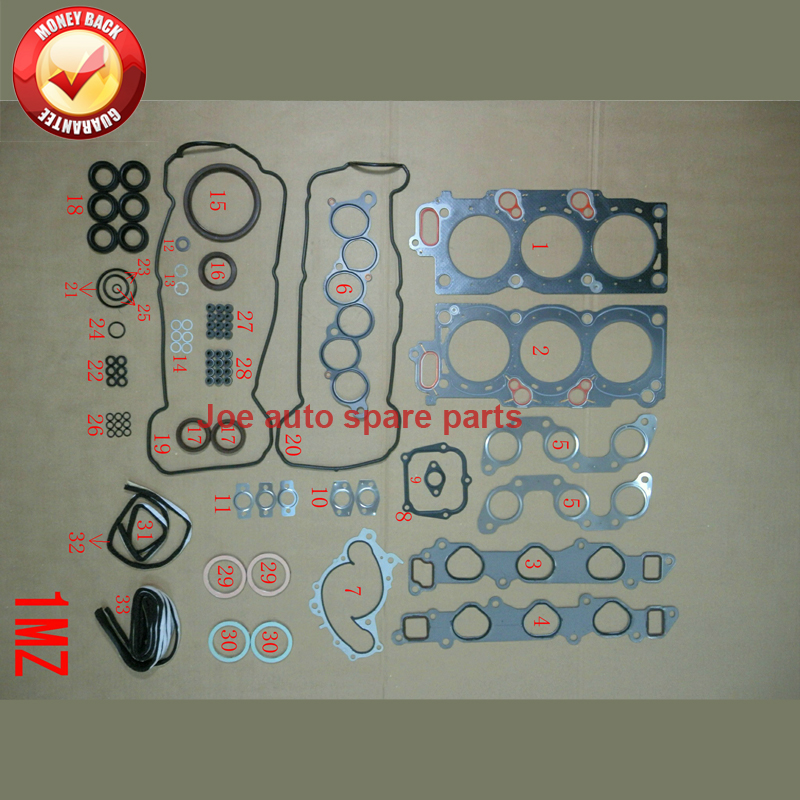 1MZ 1MZFE Engine complete Full gasket set kit for Toyota Camry / AVALON lexus ES 3.0L 2995cc 1995-2005 04111-20041 50137400 feathers flower girl dresses baby girl tutu dress tulle princess dress ball gowns kids wedding birthday bridesmaid party dress