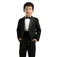 Baby Kids Boys' Formal Gentleman Party Pinstripe Suit Complete Outfit Dresswear Piano Show Stage Dress Matching Tie And Bow Tie