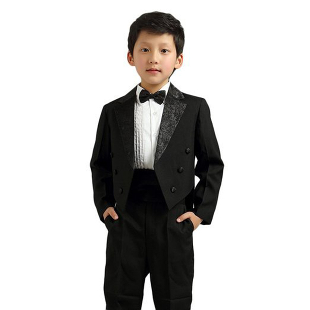 a1ee33805 Baby Kids Boys' Formal Gentleman Party Pinstripe Suit Complete Outfit  Dresswear Piano Show Stage Dress