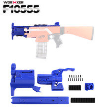 Worker f10555 3D Printing Modularized NO.114-K Front Tube Kit for Nerf Stryfe - Blue