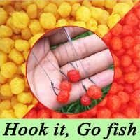 1 Flasche 60g 230 stücke Karpfenangeln Getreide Fruchtgeschmack Köder Bälle Pop Schwimmenden Fischen Köder Boilies