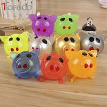 лучшая цена TOFOCO 1 Pcs Cute Anti Stress Splat Water Pig Ball Vent Toy Venting Sticky Smash Squeeze Novelty Shocker Gags Jokes Prank Toys