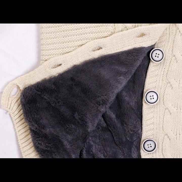 Dame Winter Mit Kapuze Fleece Liner Kaschmir Strickjacke Gestrickte Pullover Mantel Frauen Dicke Warme Lange Ärmel Stricken Weben Lange Jacke Tops
