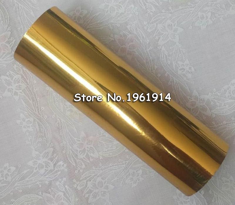 1 Roll 8.3x131yards / 21cmx120M Gold Color Hot Stamping Foil Heat Transfer Laminating Napkin Gilding PVC business Card Emboss 1 roll 8 3x131yards 21cmx120m gold color hot stamping foil heat transfer laminating napkin gilding pvc business card emboss