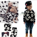 Boys Clothing Set Cartoon Mickey Long Sleeve T-shirt+Pants Two-piece Two-piece Suits Children Clothing Ensemble Garcon 12M-5T