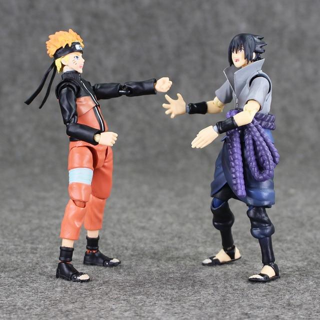 14cm Naruto Uzumaki / Sasuke Uchiha PVC Action Figure